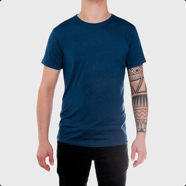 Bambus t-shirt klassisk i blå