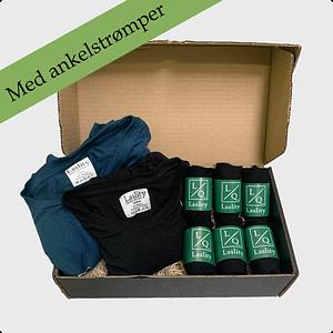 gaveæske multi med ankel strømper og T-shirts