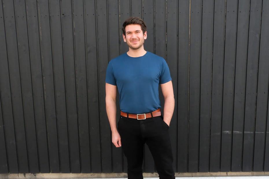 Martin i blå bambus t-shirt